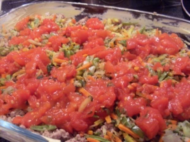 Kartoffelauflauf mit Hackfleisch und Gemüse - Rezept - Bild Nr. 7