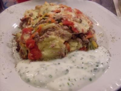 Kartoffelauflauf mit Hackfleisch und Gemüse - Rezept