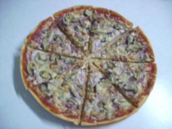 hausgemachte Pizza - Rezept