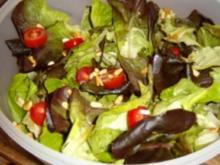 Grüner Salat mit Zitrussauce - Rezept