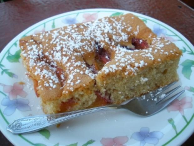 Marinierter - Pfirsich-Kuchen - Rezept