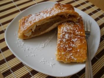 Strudel süß - Schneller Apfel-Topfen-Strudel - Rezept