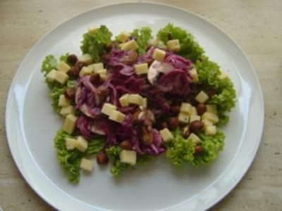 Rotkohl-Käse-Salat - Rezept