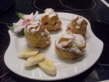 Brandteigkrapferl mit Puddingcreme - Rezept