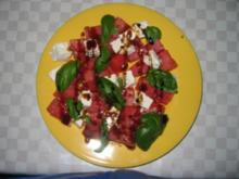 Melone-Fetakäse-Basilikum - Rezept