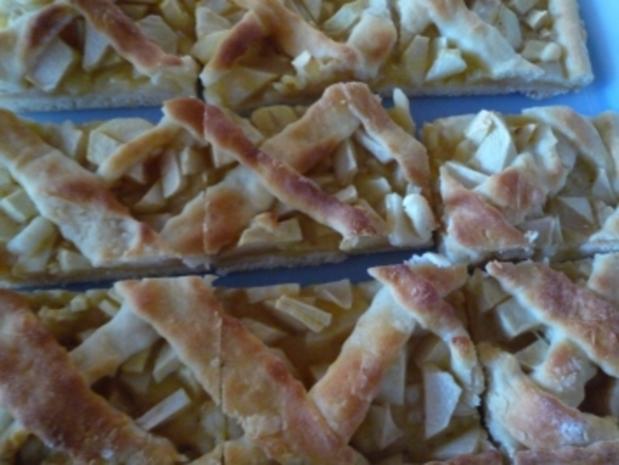Apfel - Rahmkuchen hinter Gitter - Rezept
