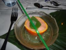 Getränke-Vorspeise Campari-Limoncello-Sorbet - Rezept