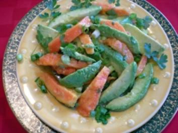 Papaya - Avocado Salat - Rezept