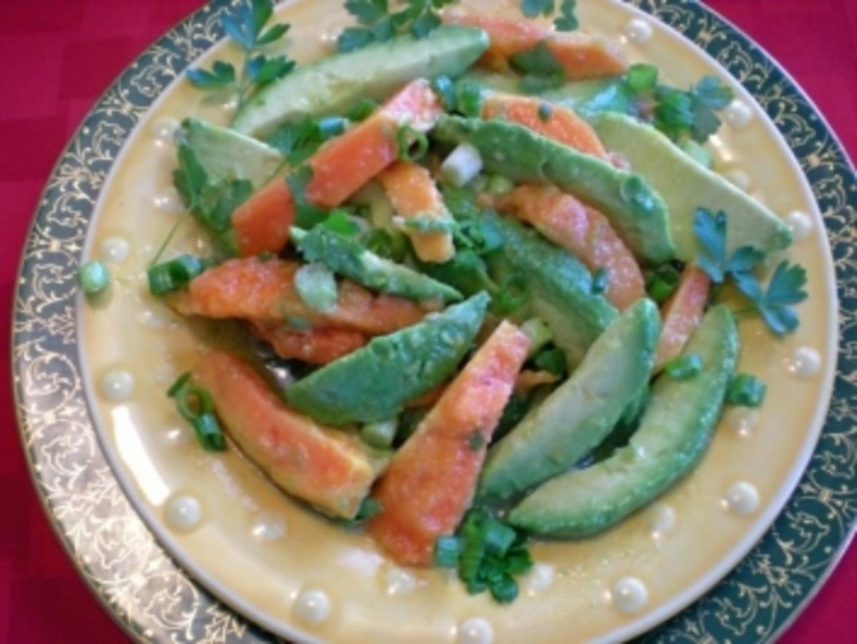 Papaya - Avocado Salat - Rezept By dreamcatcher