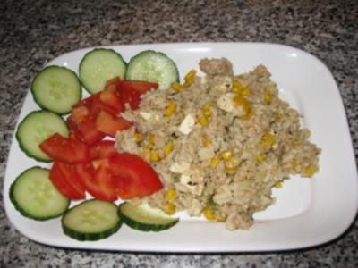 Thunfisch-Reissalat mit Schafskäse ..... - Rezept