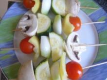 Kleine Gemüsespieße - Rezept