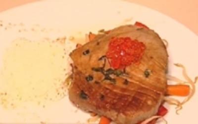 Tunfisch auf Wok–Gemüse im Sesam–Cape - Rezept