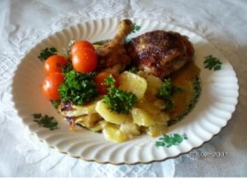 Rezept: Gebackene Hähnchenkeulen