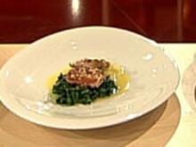 Krosse Wachtel mit Pak Choi - Rezept