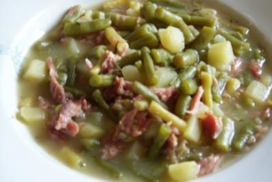 Grüne Bohnen-Kartoffel-Topf - Rezept
