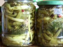 Sauer eingelegte Bohnen - Rezept