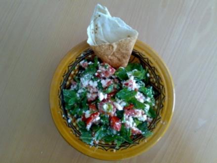 ** Salate ** Schafskäse - Tomaten - Salat mit frischer Minze - Rezept