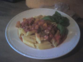 Hauptgericht: Ratzfatz-Soße zu Pasta - Rezept