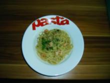 Spaghetti mit Shrimps und Artischockenpesto - Rezept