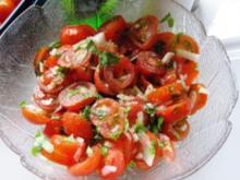 feuriger Tomatensalat - Rezept