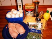 Genudelte Hähnchenbruststreifen - Rezept
