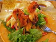 Warmer Shrimpsalat mit Fenchel und Paprika - Rezept