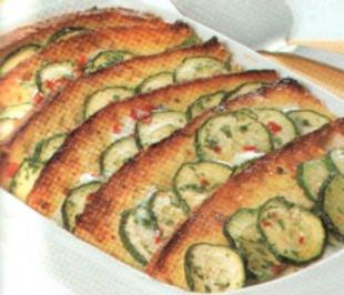 antipasti bruschette con zucchine - Rezept