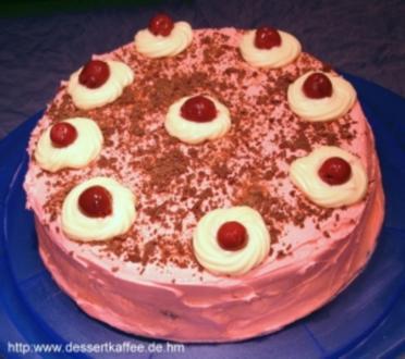 American Kirsch-Schoko-Torte aus der Mikrowelle - Rezept