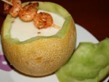 Suppe. Champagner-Melonen-Süppchen - Rezept