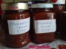 Eingemachtes  Rhabarber-Tomaten-Marmelade - Rezept