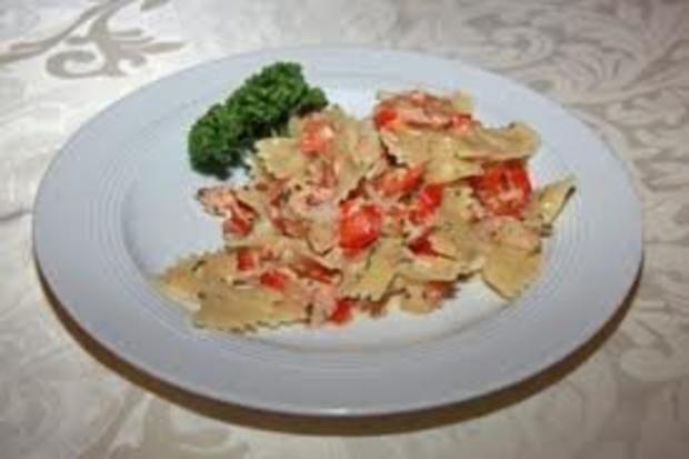 Farfale mit geräuchertem Lachs - Rezept
