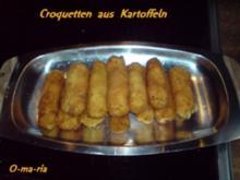 Kartoffelernte  Croquetten aus Kartoffeln - Rezept