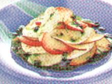 antipasti mozzarella con pesche e menta - Rezept