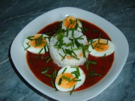 Eier in Tomatensoße - Rezept