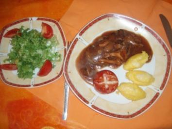 Rinderfilet mit Polenta nach Tessinerart und ein Saisonsalat - Rezept