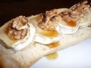 Ziegenkäse-Walnuß-Baguette - Rezept
