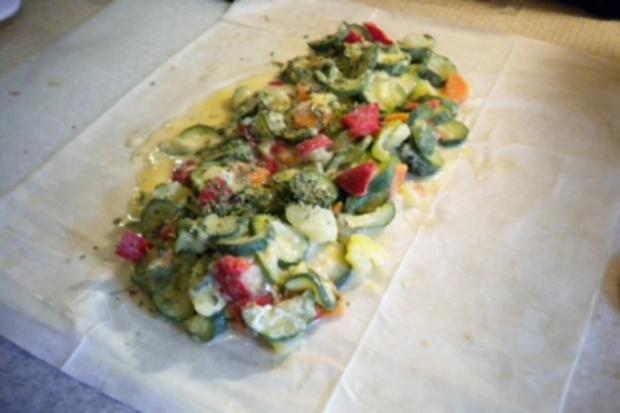 Pikantes Gebäck: Gemüsestrudel - Rezept - Bild Nr. 5