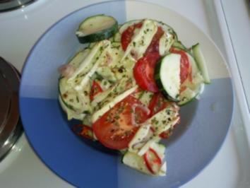Zucchini-Tomaten-Auflauf mit Ziegenkäse - Rezept