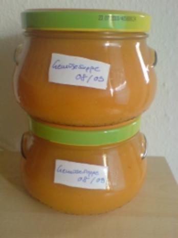 """Suppe """"Gemüsesuppe im Glas"""" - Rezept"""