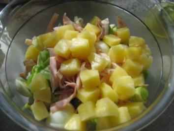 Fruchtiger Eier-Lauch-Salat - Rezept