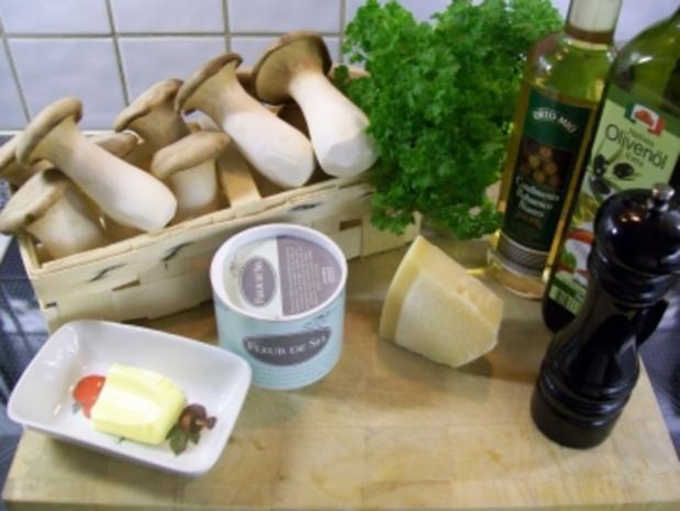 lauwarmes Carpaccio vom Kräuterseitling - Rezept - Bild Nr. 3
