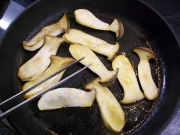 lauwarmes Carpaccio vom Kräuterseitling - Rezept - Bild Nr. 4