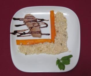 Kalbskarree mit Karotten und Limettenrisotto - Rezept