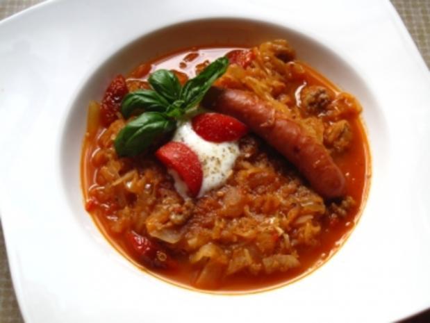 Sauerkrautsuppe - Rezept