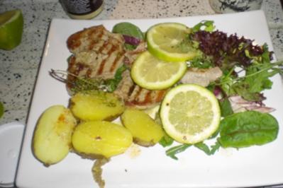 Thunfisch mit Zitronenbutter - Rezept