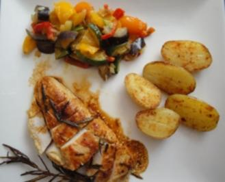 Hühnerfilet in Senf-Rosmarinmarinade - Rezept