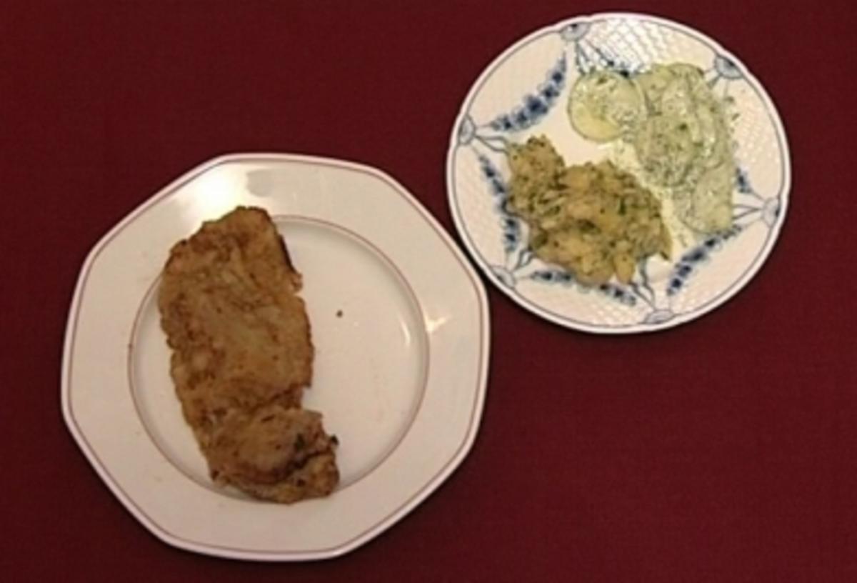 Wiener Schnitzel mit Erdäpfel- und Gurkensalat (Lisa Riecken) - Rezept Durch Das perfekte Promi Dinner