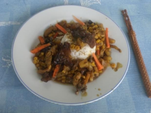 """Wokgericht """"Thai"""" mi Ananas und Curry - Rezept - Bild Nr. 5"""