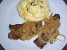 Leber mit Kartoffelpü - auf Wunsch eines einzelnen Herrn - - Rezept