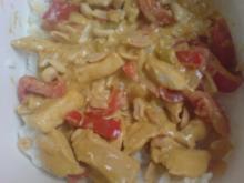 Hühnchen in fruchtiger Erdnuss-Curry-Soße - Rezept